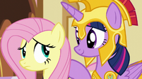 Twilight puts a comforting hoof on Fluttershy S5E21