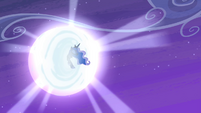 Luna flying back to the moon S4E19