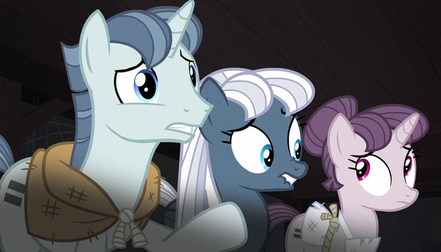 File:Party Favor, Night Glider, and Sugar Belle unsure S5E1.png