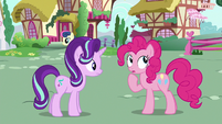 Pinkie Changeling doesn't know Starlight's name S6E25