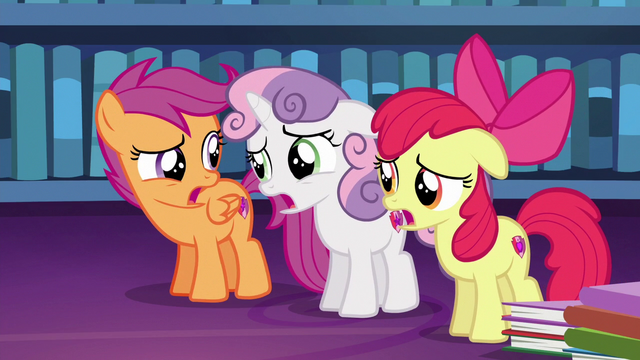 """File:Cutie Mark Crusaders discouraged """"right..."""" S6E19.png"""