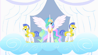 Princess Celestia and her guards S1E16
