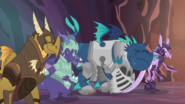 File:Dragons bowing to Dragon Lord Spike S6E5.png
