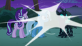 Discord's magic around Starlight, Trixie, and Thorax S6E25.png