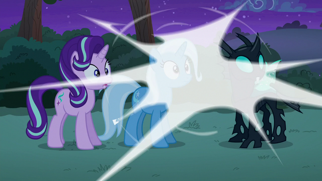 File:Discord's magic around Starlight, Trixie, and Thorax S6E25.png