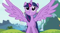 Princess Twilight outstretches her wings S5 opening