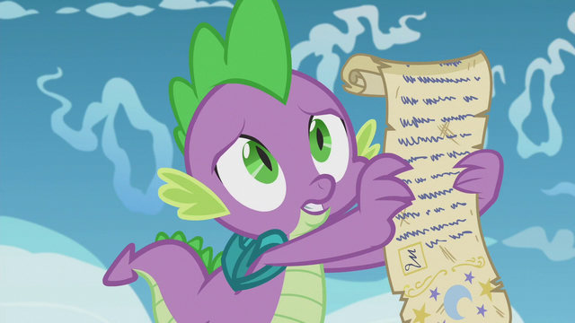 File:Spike shows the scroll to Twilight S5E25.png