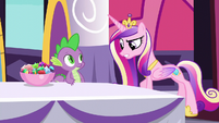 Princess Cadance confronting Spike S5E10