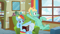 Rainbow shoves Zephyr Breeze off her seat S6E11.png