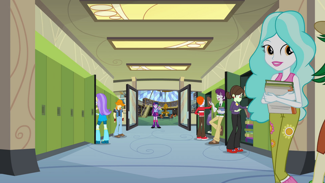 File:Twilight and Spike in the hallway EG.png