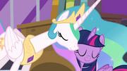 Celestia nuzzles Twilight's cheek S4E01.png