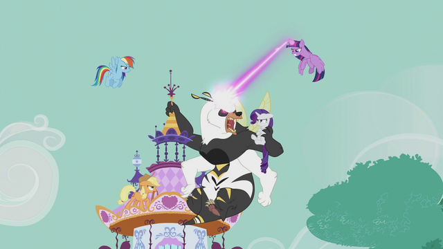 File:Mane Six fight the bugbear at Carousel Boutique S5E9.png