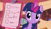 Twilight levitating a checklist S4E21