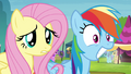 Fluttershy worried and Rainbow stunned S4E22.png
