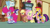 Fluttershy's friends confused by her rationale S5E21