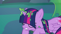 Twilight Sparkle freed from her cocoon cage S6E26