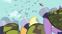 Ponies watching the dragon migration S2E21