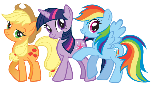 File:Applejack, Twilight Sparkle and Rainbow Dash.png