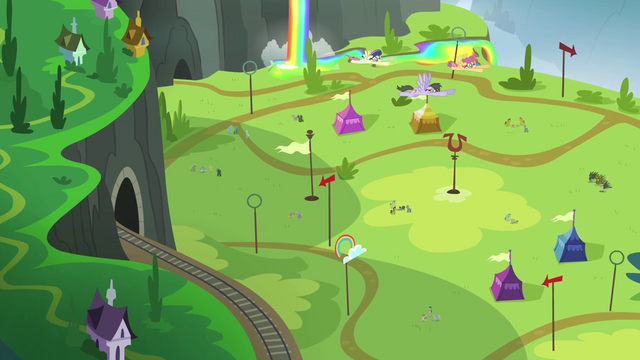 File:Rainbow Falls Equestria Games tryout field S4E10.png