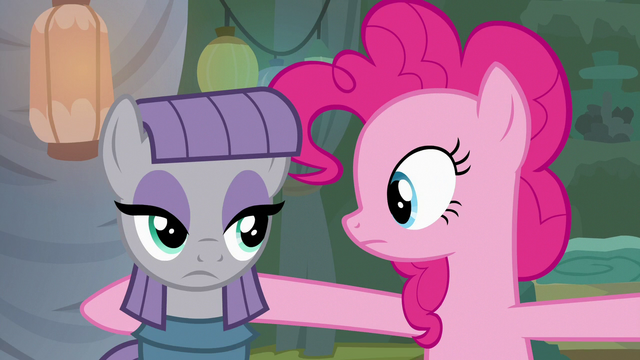 File:Maud Pie looking annoyed at Pinkie again S7E4.png