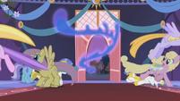 Ponies flee from Nightmare Moon S1E02