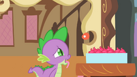 Spike looking at cupcakes S2E03