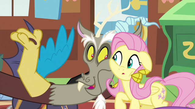 File:Discord holding Fluttershy close S6E17.png