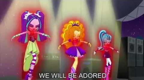 Welcome to the Show With Lyrics - My Little Pony Equestria Girls Rainbow Rocks Song