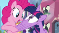 Pinkie stretching Twilight's face S4E25.png