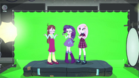 Rarity, Fleur, and Velvet looking nonchalant EG3b