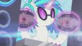 DJ Pon-3 spinning records on her hooves S5E9.png