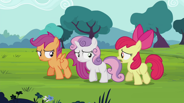 "File:Apple Bloom ""bringin' guests yesterday"" S4E15.png"