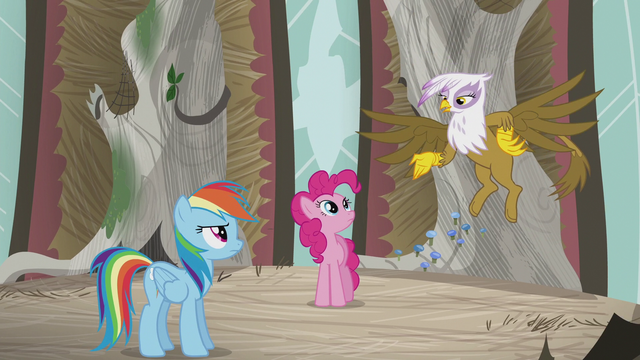 "File:Gilda ""typical pony hero complex"" S5E8.png"