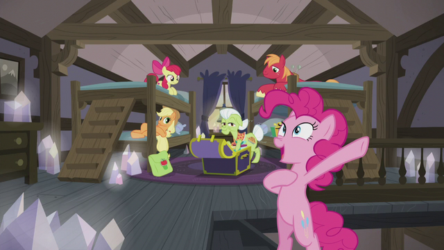 "File:Pinkie Pie ""spoiler alert - it's me!"" S5E20.png"