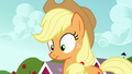 Applejack's talking stopped by Apple Bloom S5E17.png