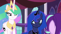 Celestia and Luna considering Starlight's words S7E10