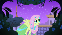 Fluttershy looking for the meadowlark S1E26