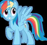 Pony request 160 - Alicorn Rainbow Dash by ah-darnit