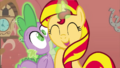 Sunset shimmer and spike 2 by sofilut.png