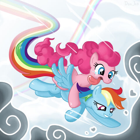 File:Pinkie Pie and Rainbow Dash in the air.jpg