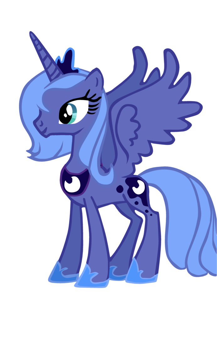 Image - Princess Luna Season 1 design vector.PNG | My