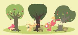 Apple family applebucking