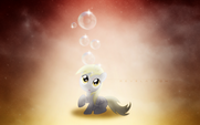 Filly Derpy wallpaper by artist-vexx3