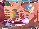 Twilight vs Fluttershy Golden Oaks Library Fighting is Magic