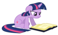 Twilight Sparkle reading vector.png