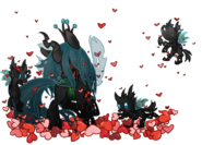 Queen Chrysalis and Changeling by artist-luga12345