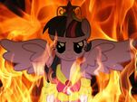 Alicorn Twilight Sparkle flameing fire background