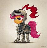 Knight Scootaloo by 2Snacks