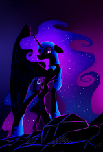 Nightmare Moon by artist-underpable