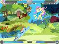 Fluttershy vs Rainbow Dash Fluttershy's cottage Fighting is Magic.jpg